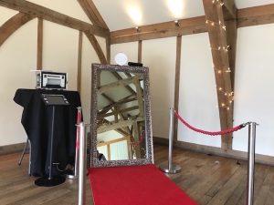 Modern Silver Mirror Photo Booth