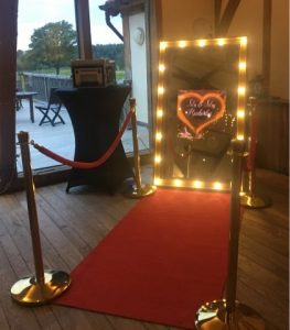 Rustic Lights Mirror Photo Booth