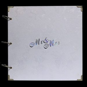 Rose White Mr & Mrs Guestbook